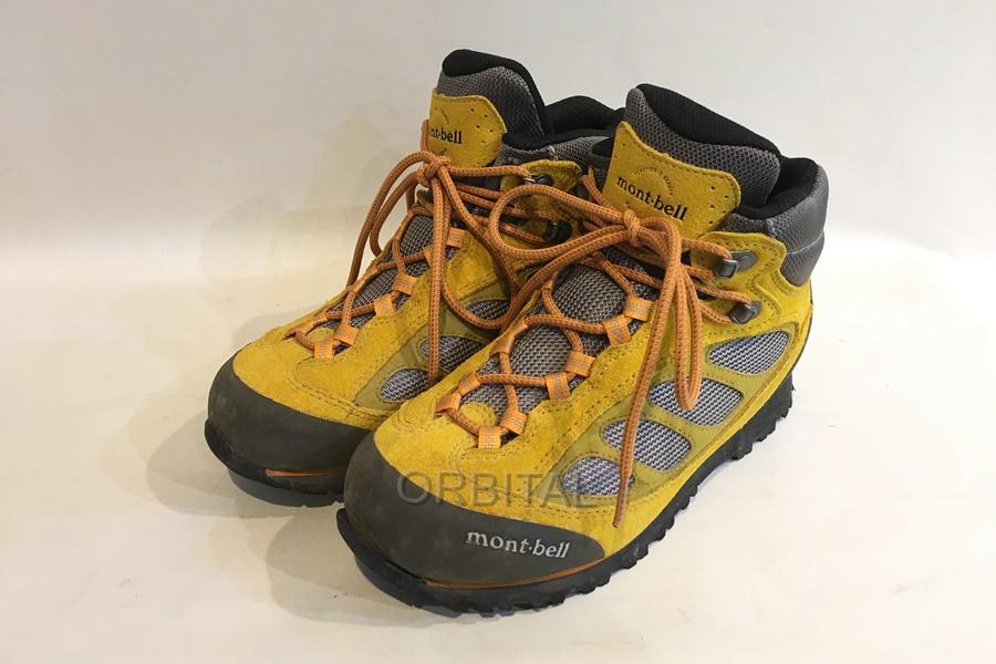 モンベル mont-bell トレッキングキングブーツ シューズ 登山靴 レディース 24㎝ イエロー グレー アウトドア