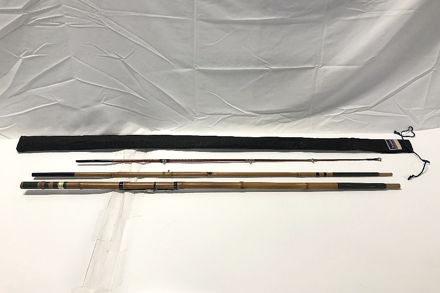 東作 竹竿 3本継 和竿