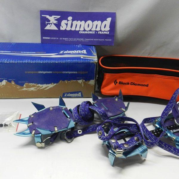 simond シモン カイマン ジグラル アイゼン 10本爪 2068LN ブラックダイヤモンドカバー付き