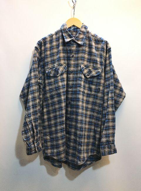 パタゴニア patagonia チェックシャツ 長袖 トップス ボタン レイヤード ブルー グレー コットン メンズ サイズS