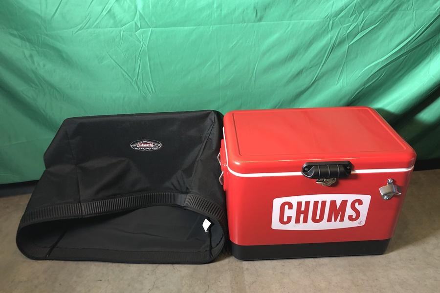 CHUMS チャムス クーラーボックス 54L コールマンカバー付き